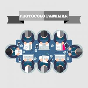 Imangen de familiares redactando un protocolo familiar